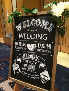 自作ウェルカムボード Chalkboard Decor, Chalkboard Wedding, Wedding Chalkboards, Welcome Boards, Poster Fonts, Wedding Entrance, Blackboards, Chalk Art, Art Boards