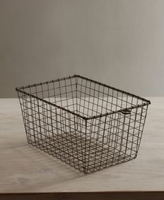 Fashioned after a vintage gym basket. These wire baskets are the perfect size for organizing the kitchen, office or bathroom. Fill it with an assortment of small gifts for your favorite hostess. DIMEN