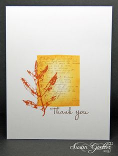 """French Foliage,"" Stampin Up; PTI sentiment"