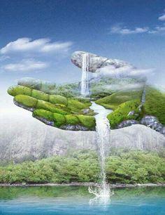 Art Abstracto Naturaleza Ideas For 2019 Illusion Kunst, Illusion Art, Beautiful Nature Wallpaper, Beautiful Landscapes, Illusion Paintings, Surreal Artwork, Surrealism Painting, Visionary Art, Fantasy Landscape