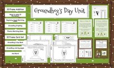 Groundhog's Day and Hibernation Literacy Center ~ over 75 pages