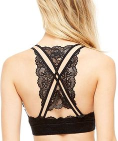 Love this Black Scallop Lace Bralette on #zulily! #zulilyfinds