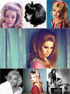 Vintage Hairstyles For Prom Vintage hairstyle trend will always be a statement in everyday modern style♥♥ Love Hair, Gorgeous Hair, Amazing Hair, Beautiful, Mad Men Hair, Marilyn Monroe Hair, Bardot Hair, Pompadour Hairstyle, 60s Hair