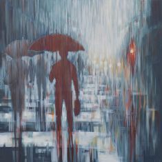 Umbrella Cityscape Paintings For Sale | StateoftheART