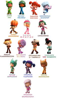 The Sugar Rush Citizens are anthropomorphic candy people who live in the game, Sugar Rush. They...