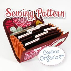 Coupon/Cash Budget Organizer. If I was an experience seamstress, I would totally get this pattern.