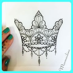 ... Crown drawing on Pinterest | King crown tattoo Queen crown tattoo and