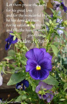 Psalm 107:8,9
