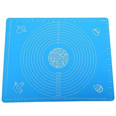 RoyalTop 2 Pack Silicone Baking Mat with Measures 40x50cm (Blue)