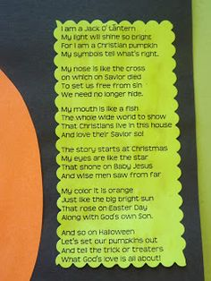 the stuff we do search results for christian pumpkin - Christian Halloween Stories