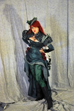 Steampunk Poison Ivy Cosplay Costume Ready by OpenPandorasCloset