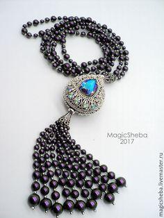 Tassel Jewelry, Statement Jewelry, Beaded Jewelry, Jewelry Necklaces, Beach Bracelets, Geometric Necklace, Girls Necklaces, Beaded Choker, Turquoise Necklace