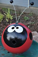 Ladybug and more out of bowling balls