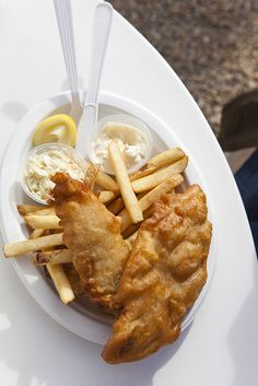 Fish and chips, a real favorite!