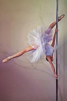 Ballerina pole dancer. Pole dancing is an #art