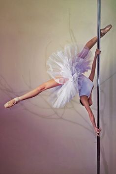 Ballerina pole dancer. Pole dancing is an #art