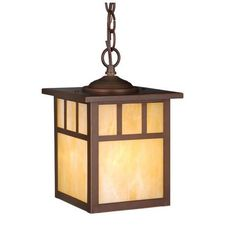 "Vaxcel OD37276BBZ Mission 7""W 1 Light Outdoor Pendant in Burnished Bronze"