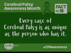 Cerebral Palsy Awareness, Muscle Tone, Disorders, Facts