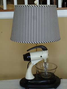 The 1970's Vintage Sunbeam Mixmaster   The lamp that mixes and lights.