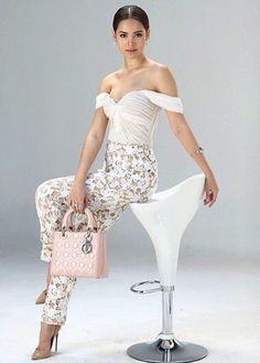 Yaya Thai Fashion, Womens Fashion, Strapless Dress Formal, Formal Dresses, Thai Model, One Shoulder Wedding Dress, Louis Vuitton, Thailand, Actresses