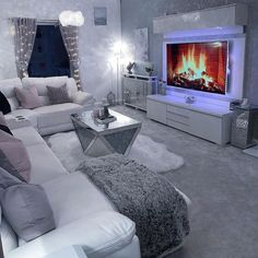 Gray interior color scheme beautiful home decor living room - Amazed by this entire gray living room by Click the image to try our free home d - Glam Living Room, Living Room Decor Cozy, Interior Design Living Room, Living Room Designs, Living Rooms, Living Room Goals, Cozy Living, Apartment Living, Interior Color Schemes