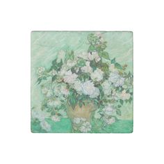 #Vase with #Roses by Vincent Van Gogh #Stone #Magnet #vangogh #art #flowers #rose