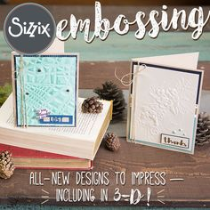 Available Now On Sizzix.com: New Embossing Folders By Sizzix / Sizzix Blog - The Start of Something You®