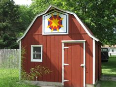 barn quilt on little shed, Sac County, Iowa