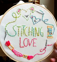 Embroidery Stitches Split Stitch whenever Embroidery Hoop Screw And Nut unless Embroidery Designs For Reading Pillows time Embroidery Patterns London versus Embroidery Thread Distributors Embroidery Designs, Embroidery Hoop Art, Embroidery Applique, Cross Stitch Embroidery, Cross Stitching, Sewing Crafts, Needlework, Handmade Gifts, Diy Gifts