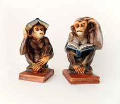 Vintage Ceramic Bookends