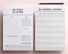 Crossbow Printable Modern Organizer Pages