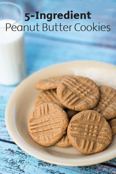 These Peanut Butter Cookies are so easy to prepare and delicious to eat, you'll want to keep the whole pan to yourself! With just 5 simple ingredients and 15 minutes, these warm cookies will be yours to enjoy.