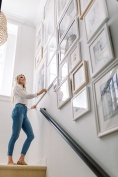 I'm so excited to finally share a full look at staircase gallery wall and a. I'm so excited to finally share a full look at staircase gallery wall and a… EEK!