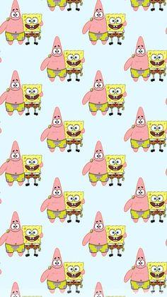 Spongebob and Patrick Spongebob Iphone Wallpaper, Cartoon Wallpaper Iphone, Cute Disney Wallpaper, Cute Wallpaper Backgrounds, Pretty Wallpapers, Cute Cartoon Wallpapers, Aesthetic Iphone Wallpaper, Spongebob Tumblr, Spongebob Drawings