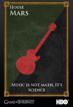 Bruno Mars' Sigil #gameofthrones #music #jointherealm #brunomars