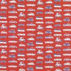 Julia fabric - red - Sandberg Tyg & Tapet