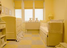 twin bed and nursery