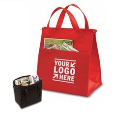 Insulated Shopping Tote With Extended Pocket