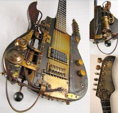 Steam Punk Guitar. Reminiscent of the guitar wielded by The Vampire Lestat.
