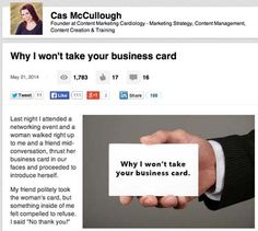 Why this blog post went viral via @Cas McCullough  co-founder of @The Likeability Co
