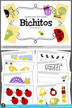 Cuaderno de Actividades para preescolar BICHITOS- mamaynene blog