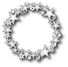"""Starry Wreath - $14.99   The Starry Wreath by Memory Box wonderful to use alone or as a base for a Christmas or patriotic wreath or another occasion!     Measures approximately 3.5"""" in diameter"""