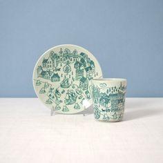 Vintage Nymolle Demitasse Cup and Saucer by Paul Hoyrup
