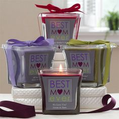Christmas Gift Ideas for New Moms - Personalized Best Mom ever candle - the perfect way to let her know what a fabulous job she's doing!