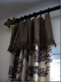 DIY Bay Window Curtain Rod for Less budget . DIY Bay Window Curtain Rod for Less budget French Country Curtains, French Curtains, French Country Bedrooms, French Country Decorating, Double Curtains, Vintage Curtains, Diy Bay Window Curtains, Window Curtain Rods, Home Curtains