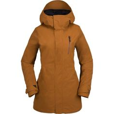 More than just a good-looking layer, the W GORE-TEX® Jacket has our feminine and relaxed long fit silhouette for a flattering fit plus great weather protection. That plus the extra protection of the weather-resistant GORE-TEX® fabric will give you confidence to keep your cool on and off the hill.