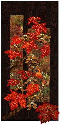 "Maplewood Applique Quilt by Helene Knott - 12"" x 27"" Quilt -"