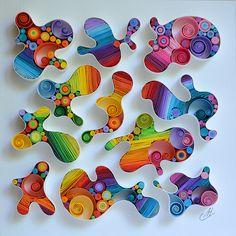 larissa Zasadna Quilling Paper Art by LarissaZasadna Arte Quilling, Quilling Letters, Paper Quilling Patterns, Quilled Paper Art, Quilling Paper Craft, Paper Crafts, Quilling Comb, Quilling Ideas, Quilling Tutorial