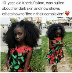 Bruhh the ppl who bullied her hadddddd to be jealous . Because this girl is the definition of BEAUTIFUL . Dark Skin Beauty, Hair Beauty, Black Beauty, Black Girls Rock, Black Girl Magic, Curly Hair Styles, Natural Hair Styles, Beautiful Black Babies, Beautiful Women