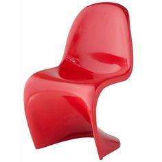 Cadeira Panton INFANTIL ABS Cor Vermelha.    - Em ABS injetado; - Pintura automotiva; - Chão até Assento 31 Centimetros; - Suporta até 50kg.